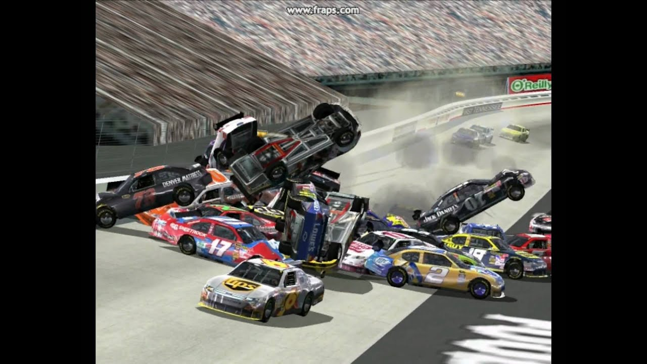 Nascar racing 2003 season wrecks 1 - YouTube