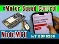 Gambar cover IoT: Control Speed of DC motor with NodeMCU ESP8266 and L298N Module