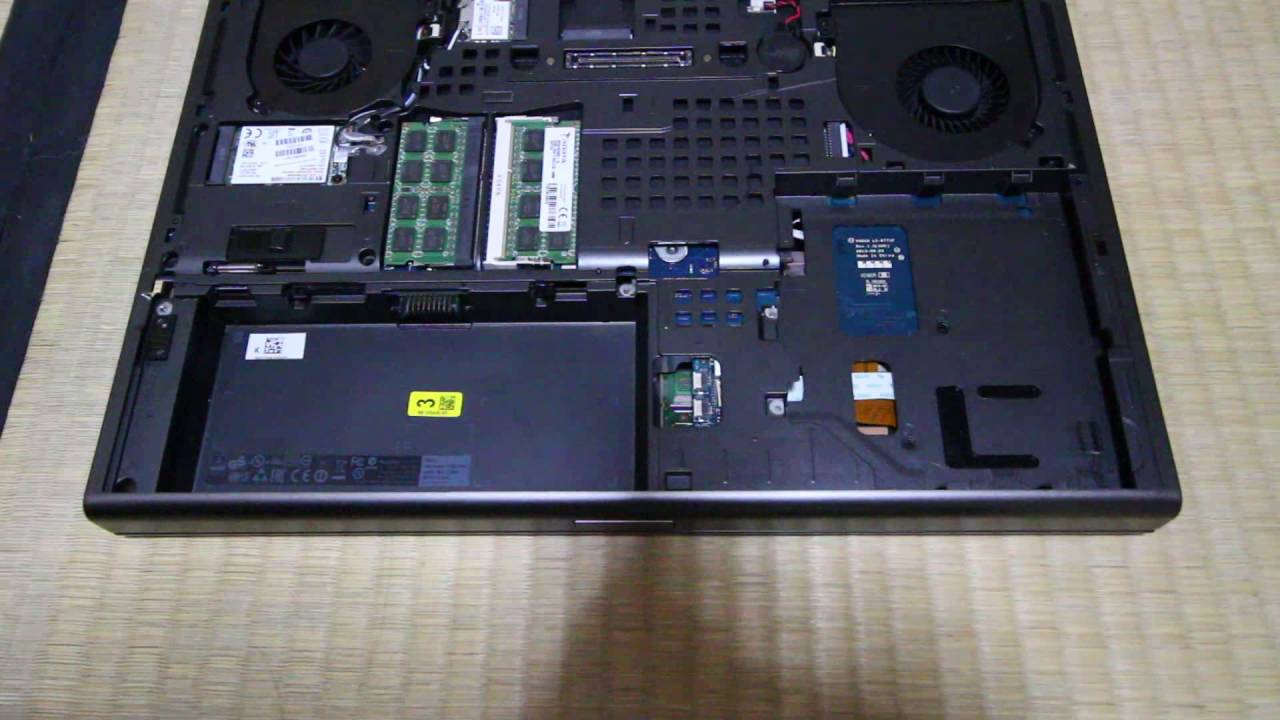 Dell Precision M4800 Disassembly (for MXM Upgrade)