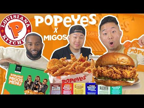 Eating POPEYES CHICKEN TENDERS MIGOS Menu! (UberEats EXCLUSIVE!)   Fung Bros