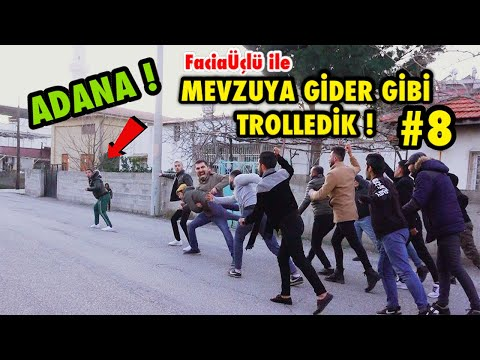ADANA'DA TOPLUCA İNSANLARIN ÜSTÜNE KOŞMA ŞAKASI İLE TROLLEDİK 8 ! w/ Facia Üçlü