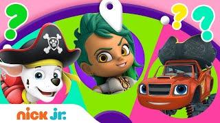 Spin the Wheel of Pirate Friends ⚓️⛵️ w/ Blaze, PAW Patrol \u0026 Santiago! Ep. 18 | Nick Jr.