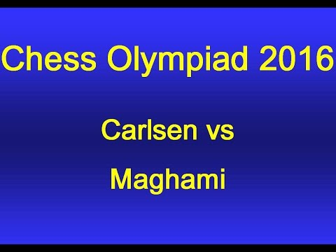Carlsen vs Maghami - Chess Olympiad 2016