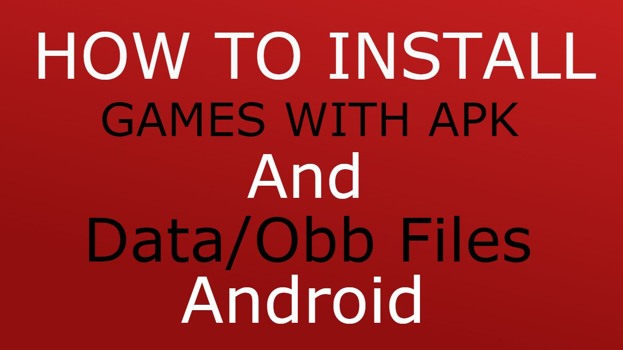 How To Install Games With Apk And Data/Obb Files Android  #Smartphone #Android
