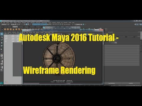 How to render wireframe with Mental ray in Maya