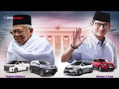 Lebih Mantap Mana? Ini Perbedaan Koleksi Mobil Cawapres Ma'ruf Amin dan Sandiaga Uno