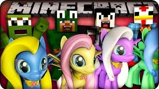 Minecraft - MODDED PONY RACE - Animal Bikes Mod