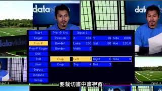 Datavideo SE-700 HD 4通道導播機,畫中畫(PIP)使用教學