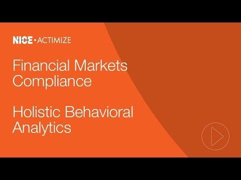 Actimize Holistic Behavioral Analytics