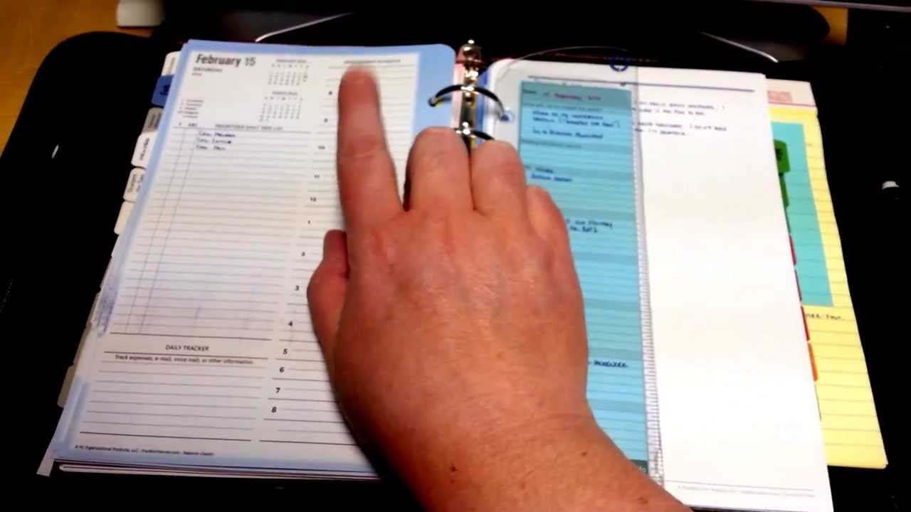 Franklin Covey Planner Setup - YouTube