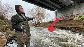 Нашли Бешенный Поисковый магнит под ЖД мостом