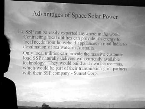 Space Solar Power: Advantages of Space Solar Power - Darel Preble
