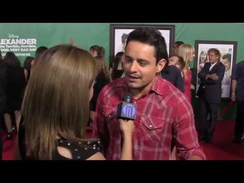 Jesse Garcia at the Alexander and the Terrible, Horrible..Very Bad Day World Premiere: