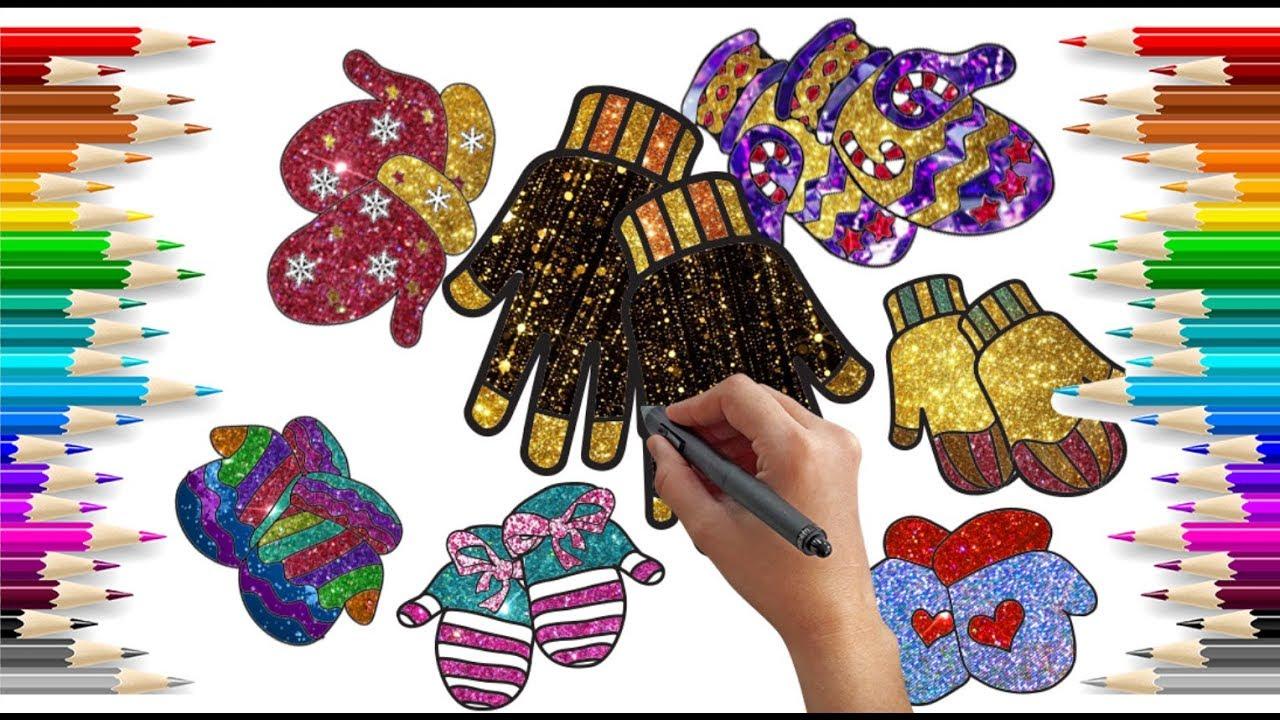 Simli Eldiven Boyama Glitter Glove Painting Glitter Painting For
