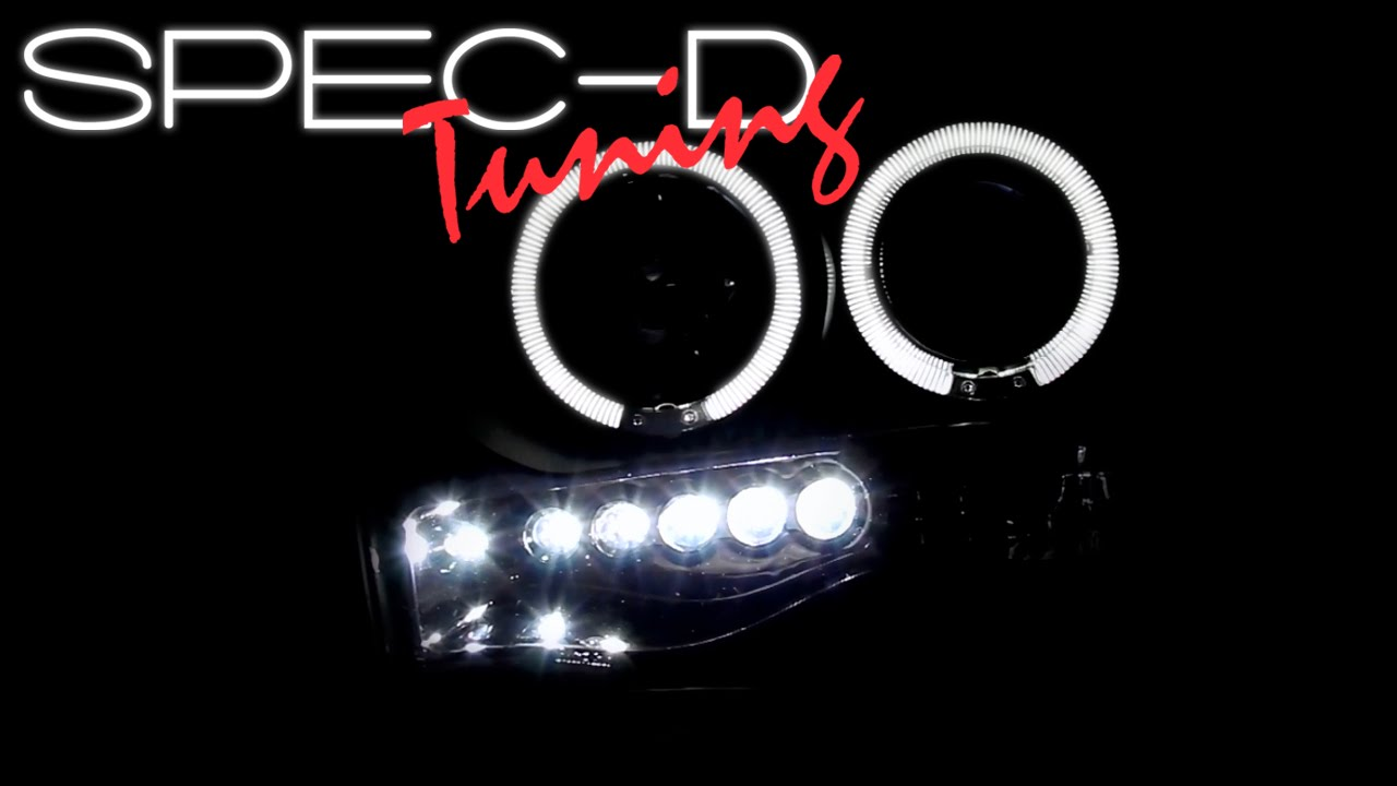Specdtuning Demo Video 2002 2005 Dodge Ram 1500 Halo Led Projector Headlights