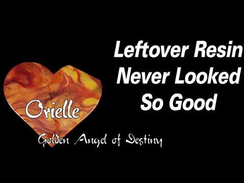 Leftover Resin Pour On A Wooden Heart Shape | Resin Tutorial | Resin For Beginners