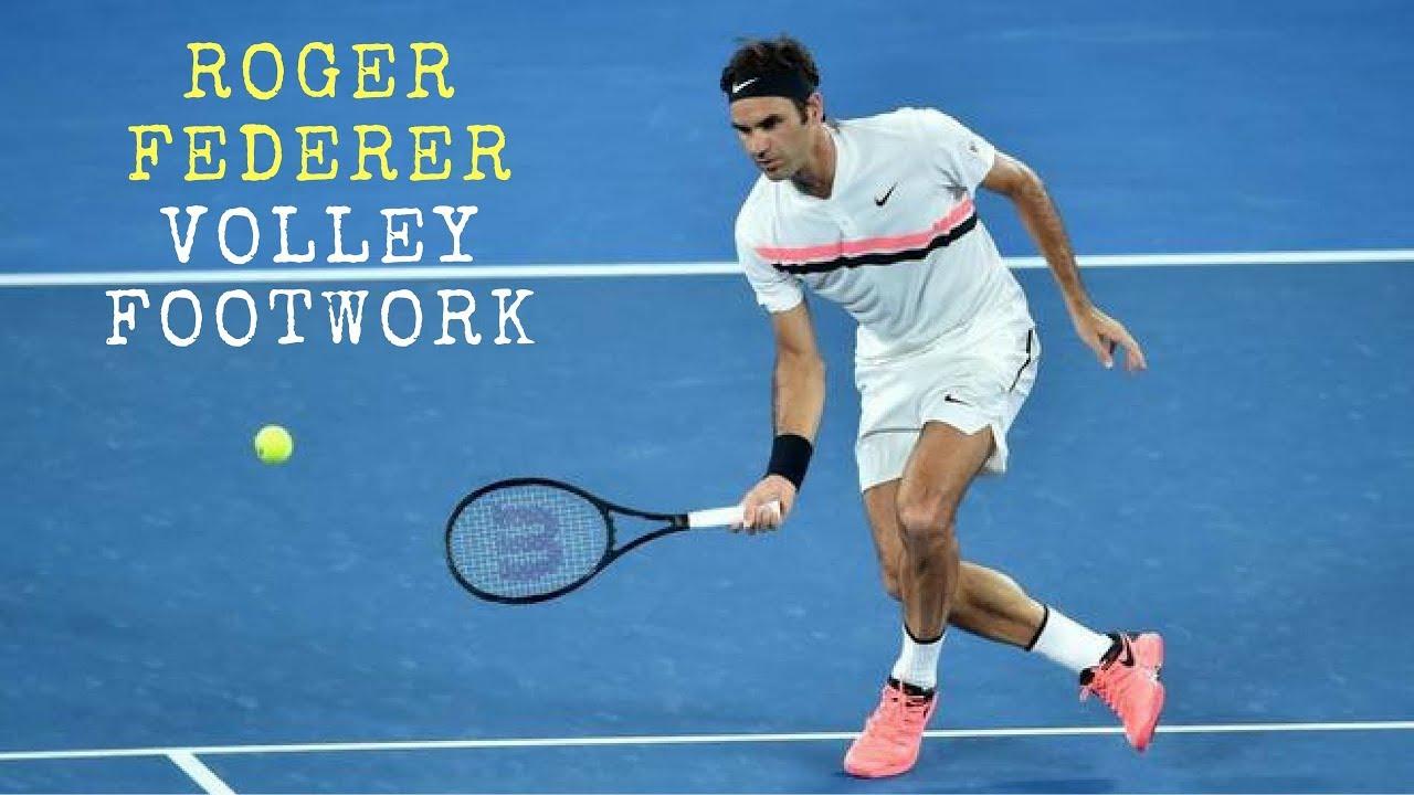 Roger Federer Volley Footwork Slow Motion Youtube