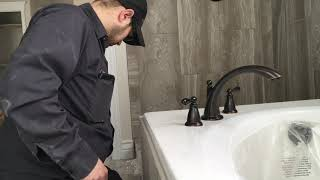 how to install a roman tub faucet