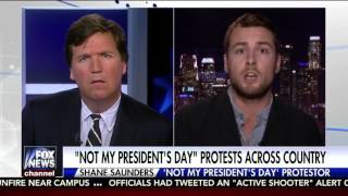 "Tucker Carlson DESTROYS Gay Anti-Trump Protester In ""Not My President"" Interview!!"