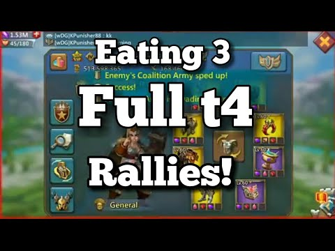 Lords-Mobile | EATING 3 FULL T4 RALLIES!