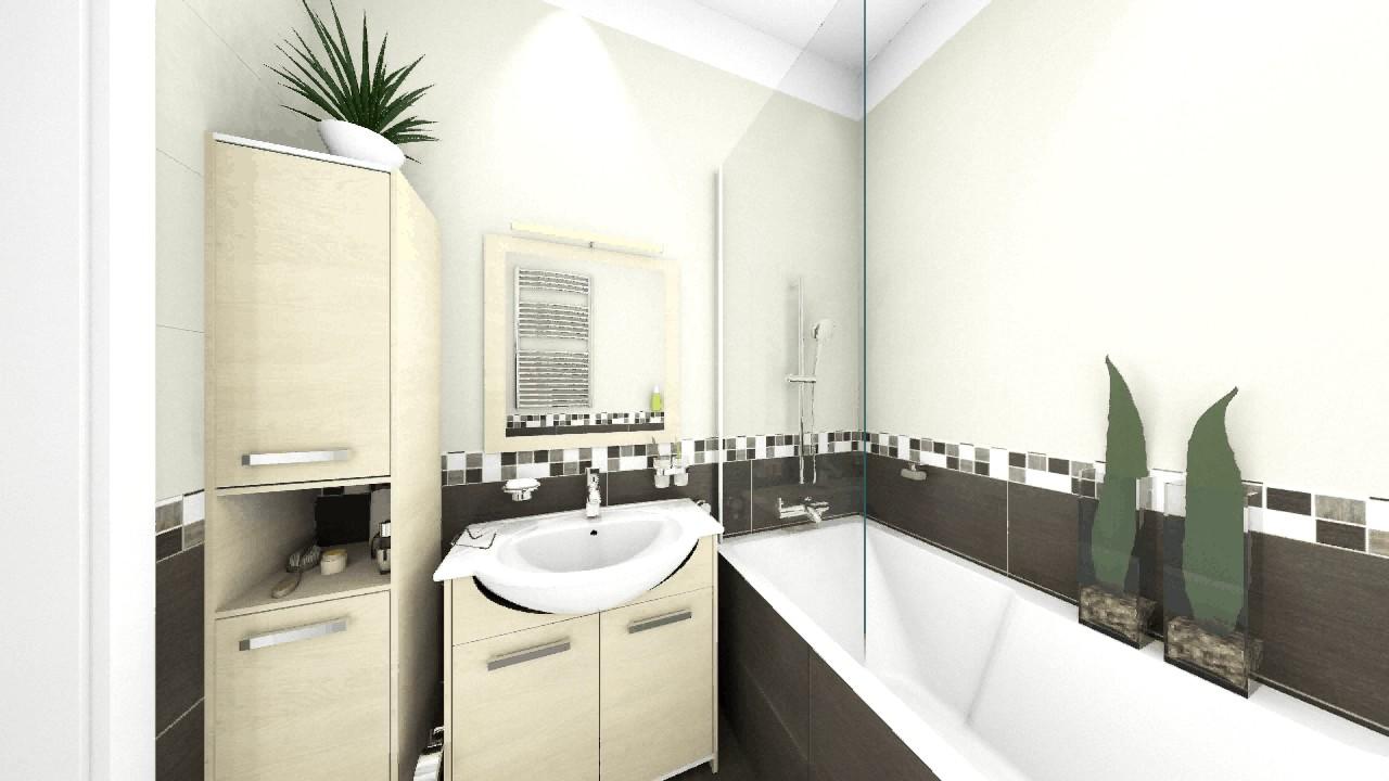 Téglalap alakú fürdőszoba fürdőkáddal 0 4 m2 között - YouTube