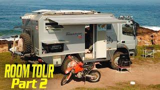 VAN LIFE TOUR Bimobil ATEGO 4x4 Expedition Vehicle // Motorcycle Carrier Build ► | RV Part 2