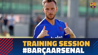 Mid-week workout to prepare the Joan Gamper match against Arsenal