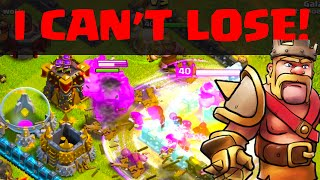 Clash of Clans - I CAN'T LOSE! Overpowered attacking in Clash!