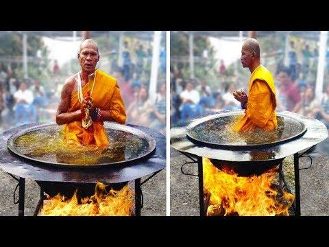 هذا الراهب البوذي أراد أن يبهر العالم فجلس في اناء من الزيت المغلي فوق النار المشتعلة لكن...  - نشر قبل 1 ساعة