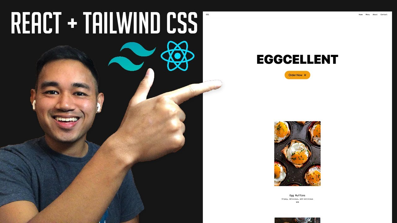 Make a React Website with Tailwind CSS Tutorial