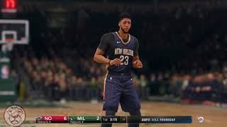 NBA LIVE 18: Milwaukee vs New Orleans