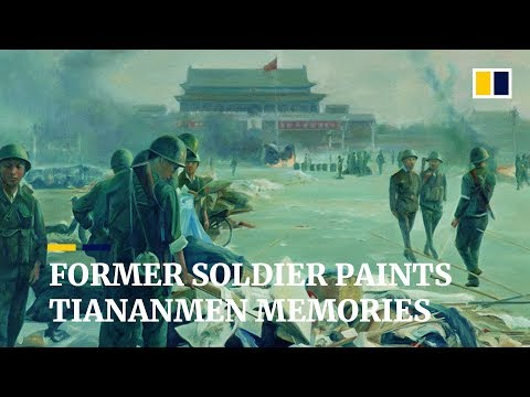Former Chinese soldier paints to remember Tiananmen Square crackdown