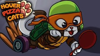 Cats in Ninja Turtles costume - Hover Pizza Cats gameplay 2017. Level 1-7