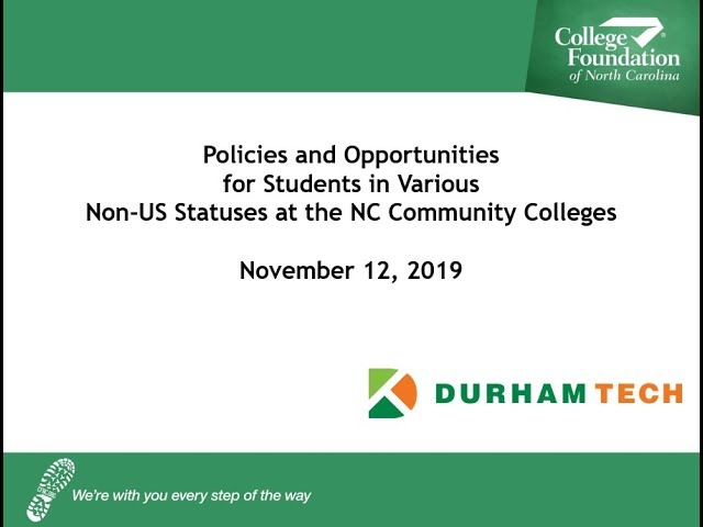 CFNC: Webinar - Opportunities for Latinx Students at NC Community Colleges