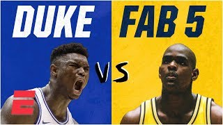 Download Duke freshmen vs. Fab Five: How Zion Williamson's squad compares on & off court | College Basketball Mp3 and Videos