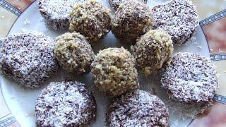 Шоколадно - ореховые конфеты  Рецепт  Полезно и вкусно
