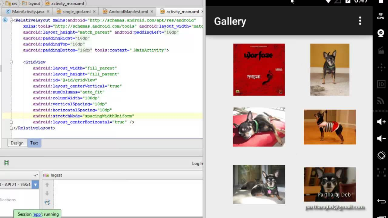 Android: Creating Simple Photo gallery using GridView with photos of SDCard