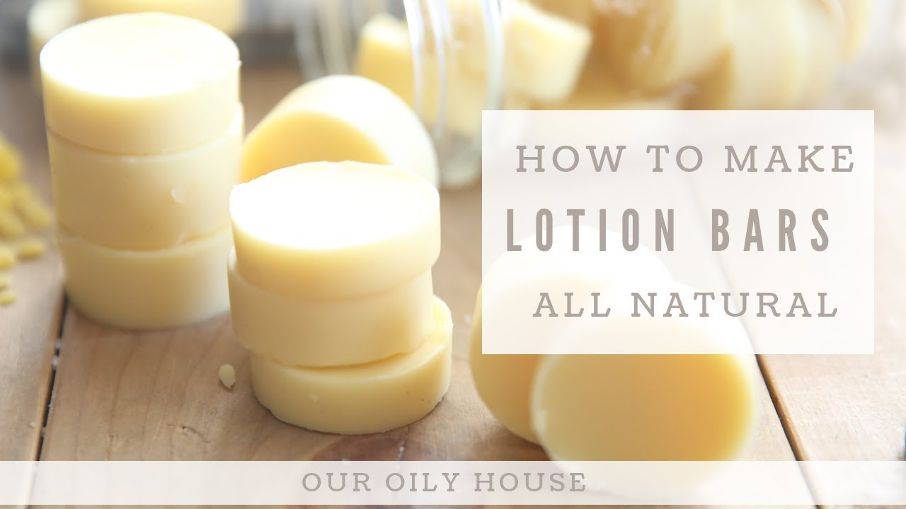 Homemade Lotion Bars with Essential Oils