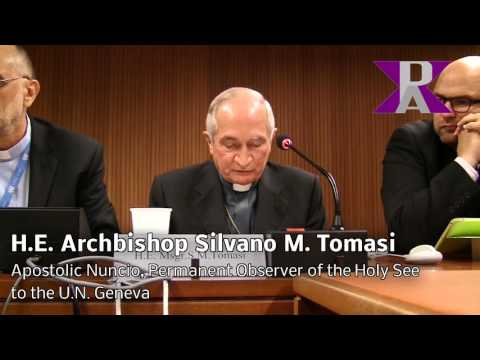 Wars in Syria & Iraq Stopable? H.E. Msgr. Silvano M. Tomasi of the Holy See Mission Geneva