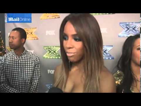 Kelly Rowland goes wild for reporters hair at X Factor wrap