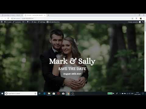 Create A Wedding Invitation Website - 2019 | WordPress, Astra, Elementor