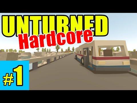 Unturned - Crazy HARD MODE Survival! - Episode 1 (Overgrown 3+ Map)