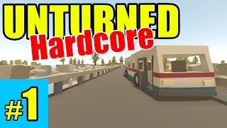 Unturned  Crazy HARD MODE Survival!  Episode 1 (Overgrown 3+ Map)