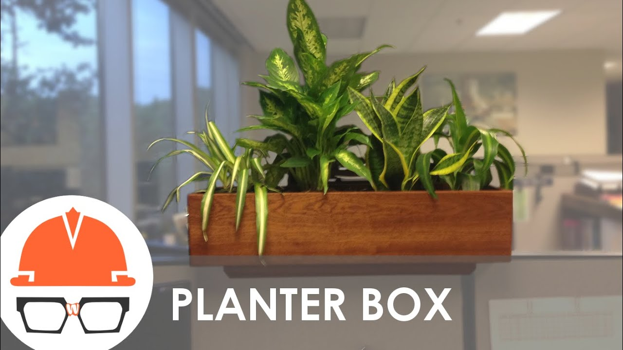 Quick build cubicle wall planter youtube for Cubicle planter box