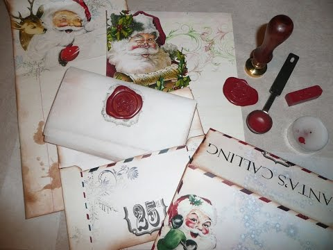Santa Baby - Christmas - Holiday Envelopes and Letters - Sealing Wax Tutorial