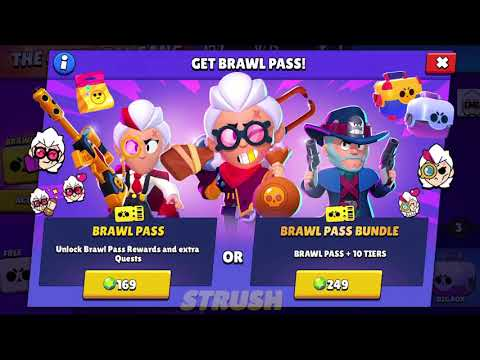 Brawl Stars Season 6 #GoldarmGang Brawl Pass (All Reward, Belle And Colt Skin Animation)