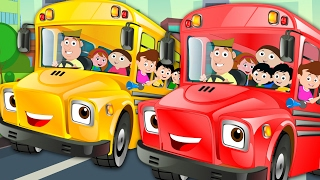 Wheels On The Bus Go Round And Round | Nursery Rhymes | Kids Songs | Baby Rhymes | Kids Tv