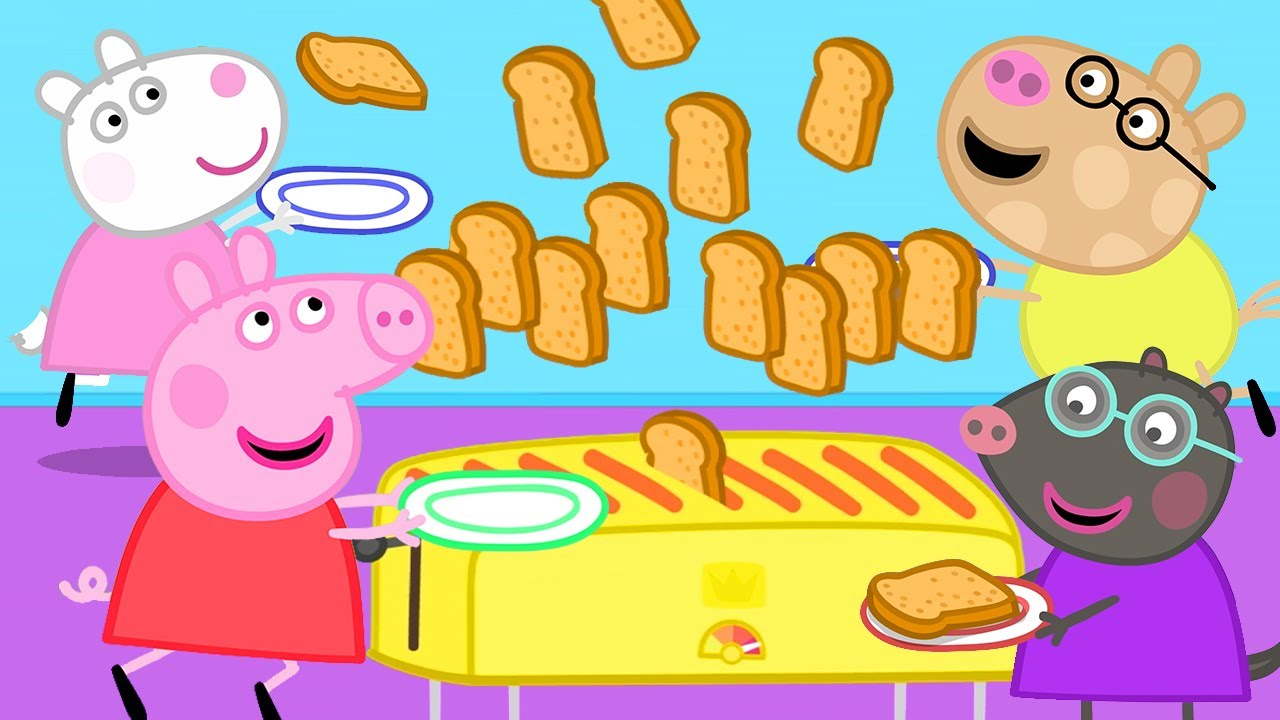Download Peppa Pig Official Channel | Peppa Pig's Breakfast Club and a Strange Toaster
