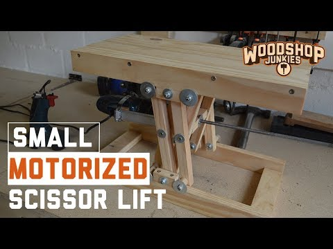 How to fit a motor to DIY scissor lift to make a motorized platform