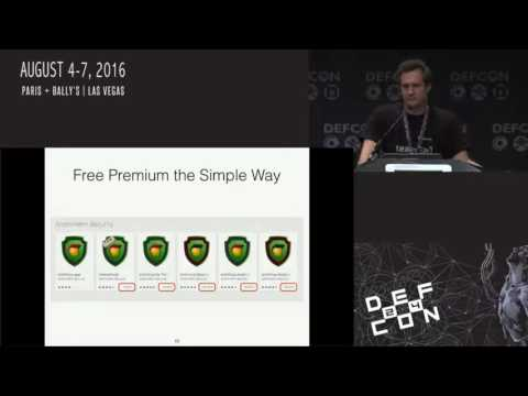 DEF CON 24 - How to Do it Wrong: Smartphone Antivirus and Security Applications Under Fire